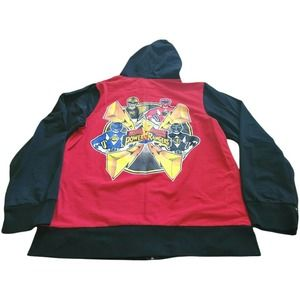 Power Rangers Zip Up Hoodie by Hot Topic Size 3XL